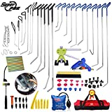 Super PDR® 79Pcs Professional PDR Rods Car Auto Body Paintless Dent Remover Repair Hail Damage Removal Tools Dent puller lifter Kit