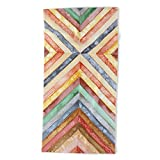 Society6 Beach Towel, Woodworking in Watercolor by dirtyhippiethings, Polyester-Microfiber Front, White Cotton Terry Back
