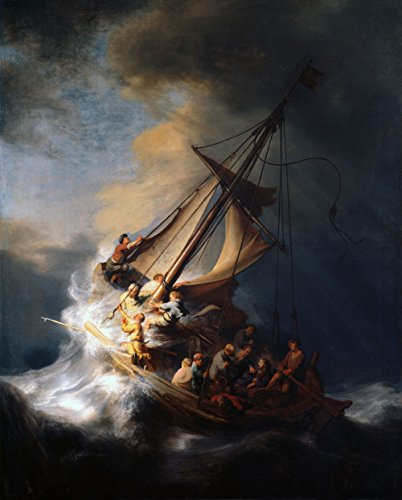 (Rembrandt - The Storm on The Sea of Galilee, Size 24x36 inch, Canvas Art Print Wall décor)