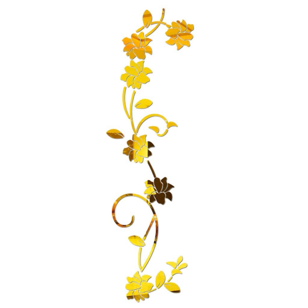 3D DIY Flower Shape Acrylic Wall Sticker Modern Stickers Decoration