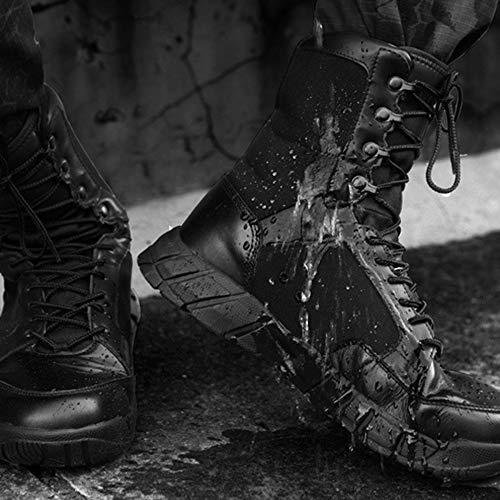 Militari Armatura Nero Combattimento da Alto in da sotto Stivali Stivali Deserto Uomo snfgoij Leggero Black Stivali Alti All'aperto Traspirante Tattici cRanP40W