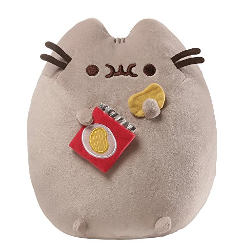GUND Pusheen Snackables Potato Chip Cat Plush Stuffed Animal, Gray, -