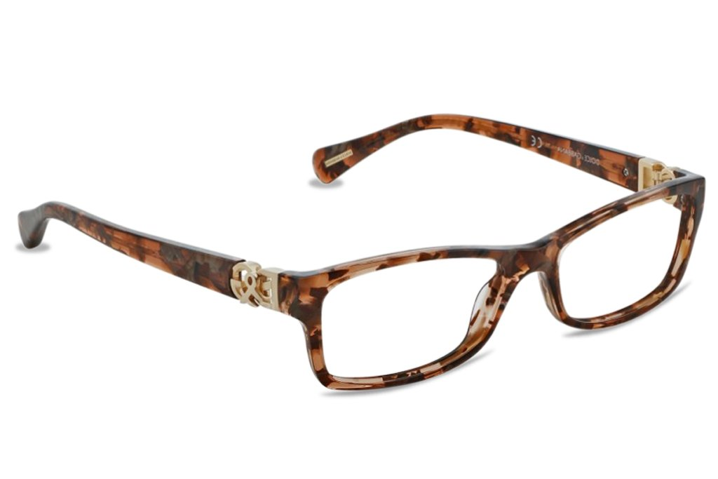 Dolce & Gabbana DG3147P Eyeglasses-2550 Brown Marble-51mm by Dolce e Gabbana
