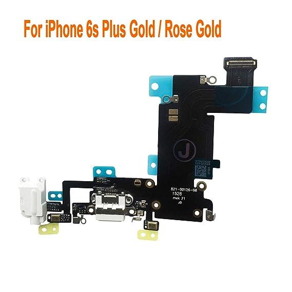 separation shoes 8c237 d1154 Johncase Charging Port Dock Connector Flex Cable w/Microphone + Headphone  Audio Jack Port Ribbon Replacement Part Compatible iPhone 6s Plus 5.5 ...