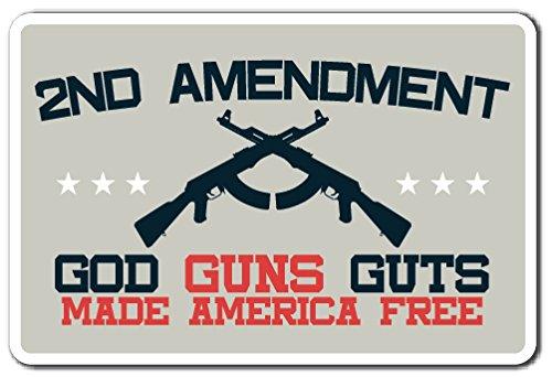 2ND Amendment Sign Ammo America Constitution Gun Guns Rights