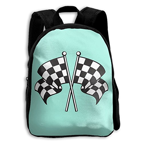school backpack racing flag bag