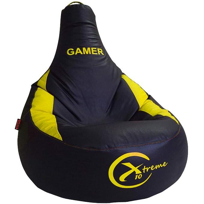 Puff Gamer X10 Extreme - para vosotros Jugadores - Ideal para Jugar con tu Consola Playstation, Xbox, Wii etc. Puff XL Poli-Piel Impermeable Color ...