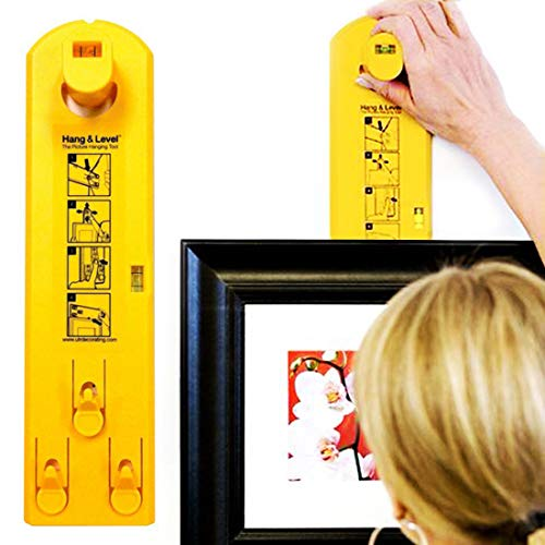 Picture Hanger Tools with Level - Picture Frame Ruler for Marking Position - Suitable on All Wall Materials