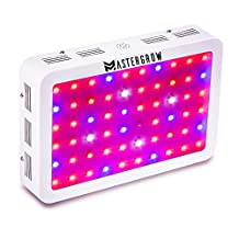 MasterGrow 600W, Led Grow Light,Double Chips, Full Spectrum,Greenhouse Grow Tent Plants Vegetables and Flowering Growing(10wX60pcs)