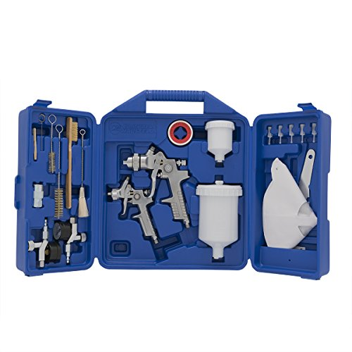 Campbell Hausfeld CHK005CCAV Gravity Feed Case Spray Gun Kit, Blue ()