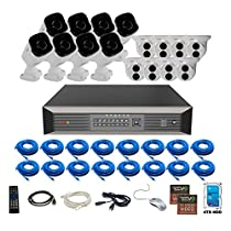 Revo America Ultra Plus Commerical Grade 16CH 4K H.265 NVR,  4 TB Surveillance Grade HDD, Remote Access, with 8x IR Bullet & 8x IR Turret Cameras, 4 Megapixel,  Indoor/Outdoor, True WDR.