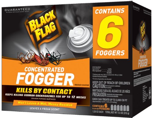Black Flag Indoor Fogger, Kills by Contact