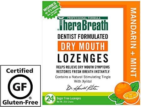 TheraBreath Dry Mouth Lozenges, Mandarin Mint Flavor, 24 Lozenges