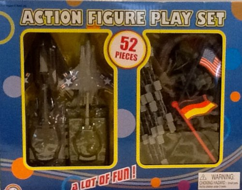 German American Jet (Agglo Action Figure Playset - American & German Military with Tanks and Jets)