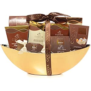 Godiva Chocolatier Gift Basket - New Assortment For 2016 Holiday Season - Special Select Chocolates With Improved Product Protective Packaging - Damage-Free Guarantee