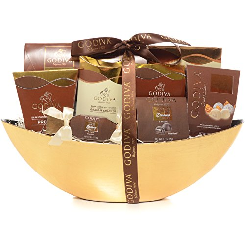 chocolate gift baskets for women - Milliard Godiva Chocolatier Gift Basket - Gold