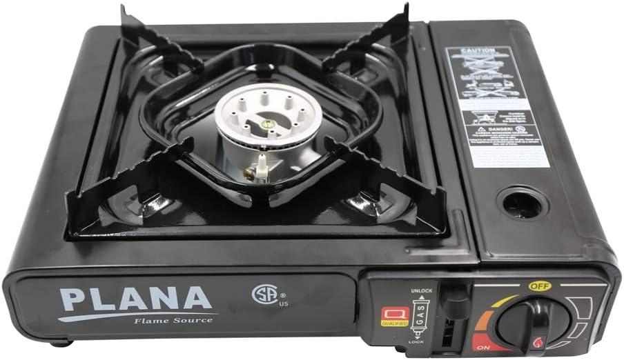 PLANA Butane 1 Burner Stove 7K BTU, Portable Gas Stove with Carrying Case