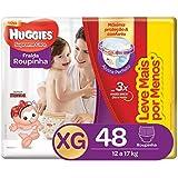 Huggies Fralda Roupinha Supreme Care XG 48 Unidades, Vermelho, XG, pacote de 48