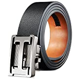 H Belts for Men Leather Ratchet Belt Clip Sliding Buckle Regualr Big and Tall Size
