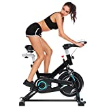 Flagup Belt Drive Indoor Cycling Bike, Flywheel Spin Bike (Black) For Sale
