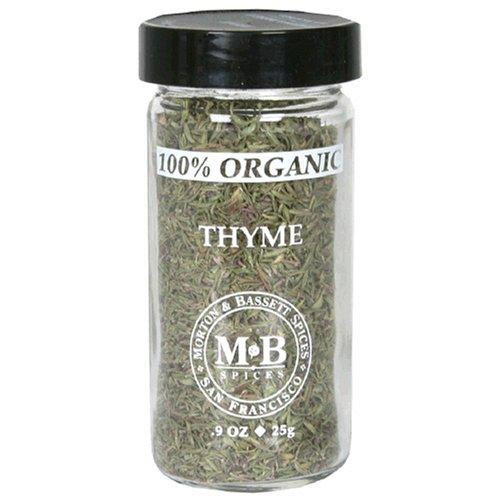Morton & Bassett Organic Thyme, .9-Ounce Jars (Pack of 3)