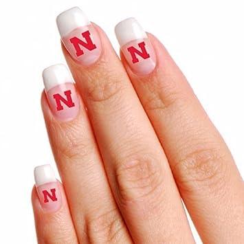 Amazon.com: NCAA Nebraska Cornhuskers 4-Pack Temporary Nail Tattoos ...