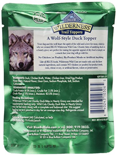 Blue Buffalo Wilderness Trail Toppers Chunky Duck Bites Dog Food, 24 By 3 Oz. by Blue Buffalo (Image #3)