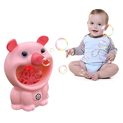 Gbell Bubble Machine for Kids , Automatic Bubble Blowerwith Light &Music , Wedding Bubbles Maker Cute Pig Bubble Machine for Kids, Birthday Party, Outdoor Play Party for Kids Boys Girls (Pink): Toys & Games