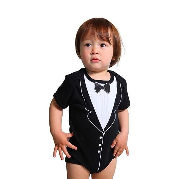 Covermason Bebé Niños Corbata de moño Impresión Mono Bodies (6M ...
