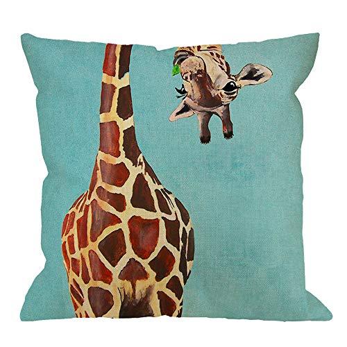 HGOD DESIGNS Giraffe Throw Pillow Cushion Cover,Funny Giraff