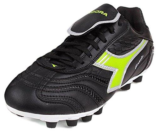 (Diadora Men's Zonda MD PU Athletic Cleats, Black Leather, Polyurethane, 12 M)