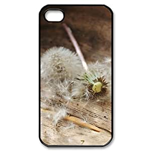 Custom Cover Case with Hard Shell Protection for Iphone 4,4S case with Dandelion lxa#448458