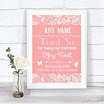 Burlap /& Lace Effect When I Tell You I Love You Personalised Wedding Sign