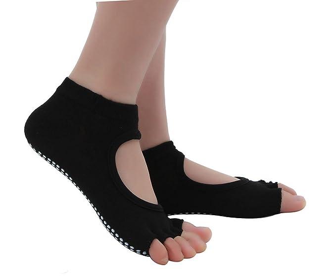 EOZY 3 Pares Calcetines con Dedos para Mujeres Yoga Pilates Antideslizantes Multicolor C: Amazon.es: Ropa y accesorios