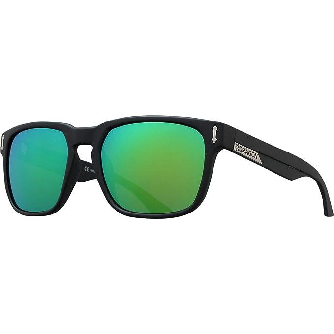 Dragon Negro mate verde ionizadas gafas de sol Monarch ...