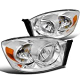 Spec-D Tuning 2LH-DGP06-RS Dodge Ram Euro Chrome Diamond Headlights W/O Amber Bar