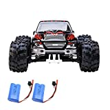 100 mph battery for rc cars - Distianert 1:18 Scale Electric RC Car Off Road 4WD High Speed 2.4Ghz Radio Control Monster Truck Rock Off-Road Vehicle Buggy Hobby with with 2 Rechargeable Batteries