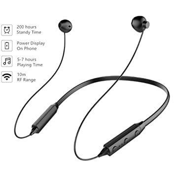 Auriculares Bluetooth V4.2 Estéreo Magnéticos Cascos Inalámbrico Tirilla con Micrófono Reducción de Ruido y para iPhone/iPad / Samsung/Sony/ Huawei/HTC y ...