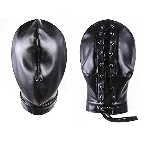 Mask Sexy Bondage Fetish Full Cover Sex Toy for Woman Male Couple Leather Hood BDSM Erotic Toys Sexo Adult Games by CNSKJEOIcnjfl