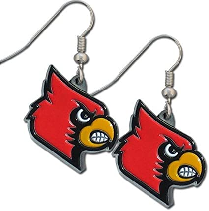 NCAA Siskiyou Sports Womens Louisville Cardinals Chain Bracelet and Dangle Earring Set One Size Team Color