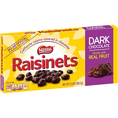 Raisinets Dark Chocolate Video Box, 3.5 oz (Raisinets Raisins Chocolate Covered)