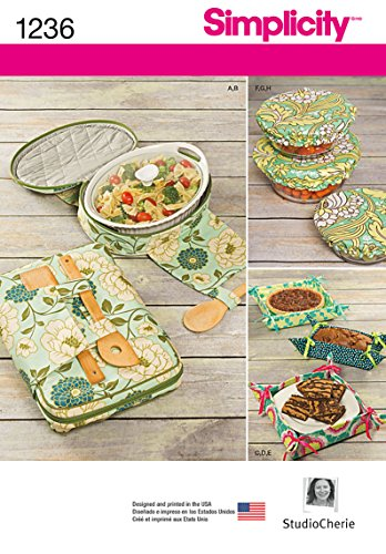 Simplicity 1236 Casserole Carrier, Gifting Basket, and Bowl Sewing Patterns, One Size Only