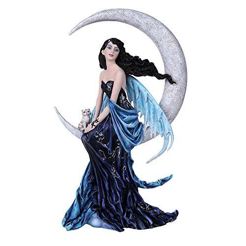 Pacific Giftware Celestial Precious Stone Indigo Moon Fairy Collectible Figurine Nene Thomas Art Inspiration Official Licensed Collectible 12 Inch Tall