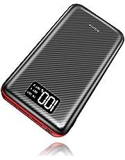 Power Bank 24000mAh Cargador Móvil Portátil Batería Externa con Entrada Doble y 3 Puertos de Salida USB & Pantalla Digital para Tablet, Android Phones y otros Smartphones