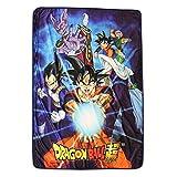 Dragon Ball Z Super Saiyan Group 6 Throw Blanket, Multi-Colored, One Size
