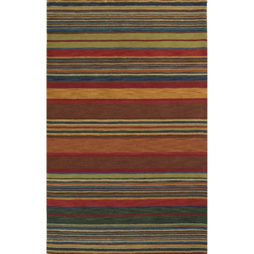 Liora Manne Inca Stripe Rug, 5 by 8-Feet, Multi (Stripes Inca Ocean Trans)