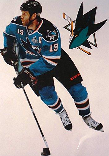 Joe Thornton Nhl - Joe Thornton Mini FATHEAD San Jose Sharks Official NHL Vinyl Wall Graphic 7