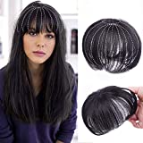 AISI BEAUTY 8' Human Hair Top Hairpiece Clip in Crown Topper Closure Topper Wiglet for Light Hair Loss Natural Black