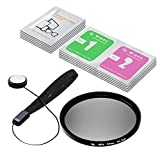LS Photography 58mm ND4-Neutral Density-Filter Camera Accessory, Lens Cap Holder, Cleaning Wipes, LGG354