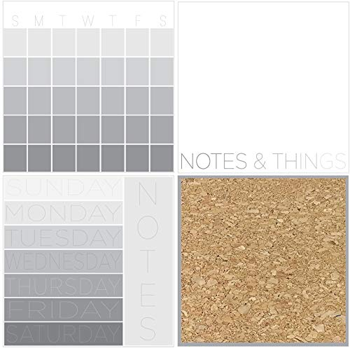 WallPops WPE2819 Mondrian Organization Kit Wall Decals, Gray